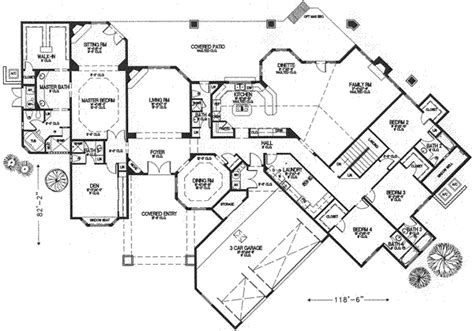 house 19746 blueprint details floor plans