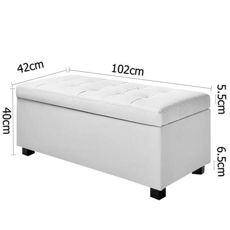white leather ottoman storage large storage ottoman bench white pu leather buy