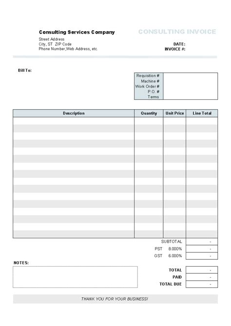 billing forms templates free printable towing invoice template studio design
