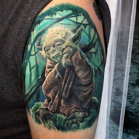 yoda tattoos 60 yoda designs for jedi master ink ideas