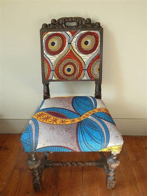 tribal pattern chair set of four tribal print covered chairs by blanche dlys