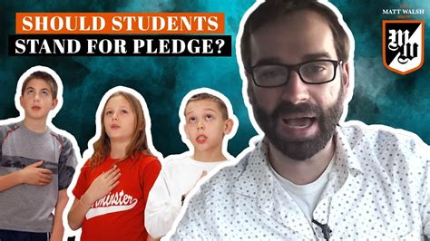 matt walsh show daily wire should students be allowed to sit during the pledge of