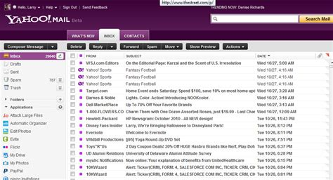 Email Yahoo Search Yahoo Mail Rev Impressions It S Much Faster Search Lags Zdnet