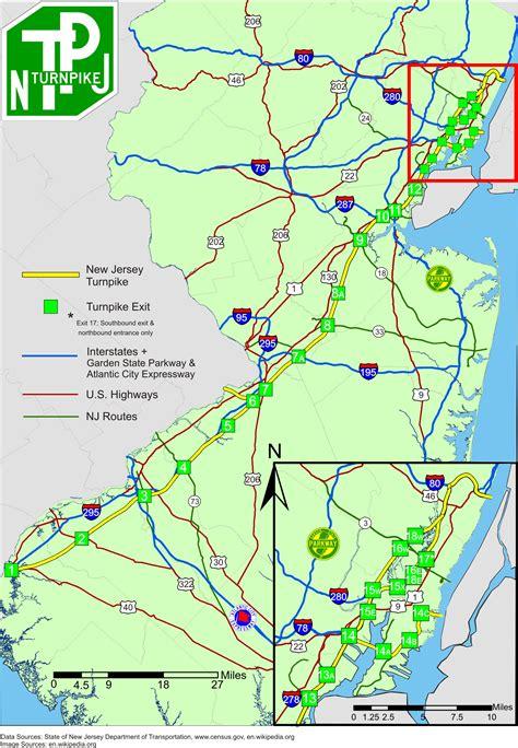 map of new jersey garden state parkway file newjerseyturnpike jpg