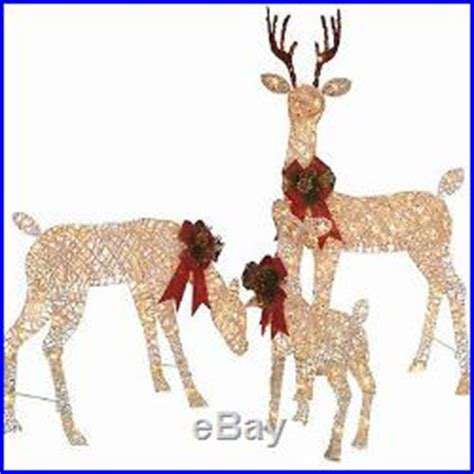 lighted deer family 3 piece set lighted deer family outdoor christmas decor garden yard