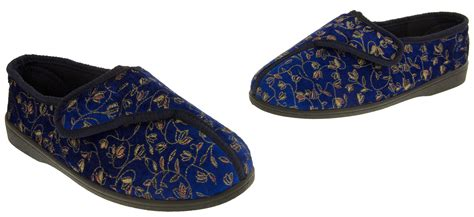 wide fitting slippers for the elderly womens wide fitting diabetic orthopaedic slippers sz