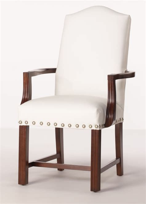arlington arm chair leather dining chair  finished arms