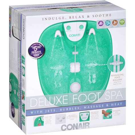 And Foot Bath 250 Pro 2000 conair foot bath with bubbles and heat white walmart