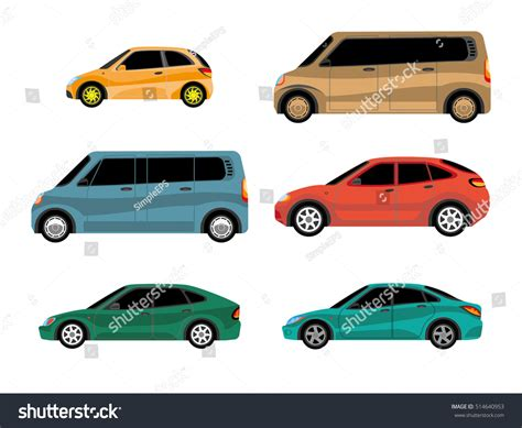 Car Types Of Paint by Design Cars Different Types Painting Stock Vector