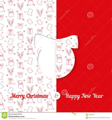new year greeting card template background with symbol pattern and
