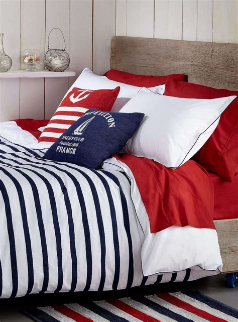 nautical bedspreads or comforter sets deauville stripe duvet cover set duvet covers
