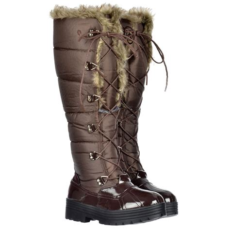 stylish snow boots onlineshoe stylish patent quilted knee high snow boot