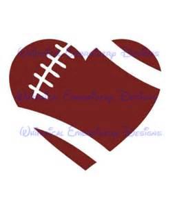 cut designs heart football cut design