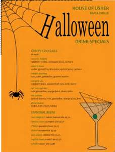 spider halloween menu halloween menu