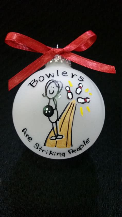 bowling ornamentbowling gift bowlers personalized christmas