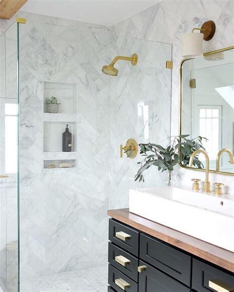 unique bathroom design ideas marble shower tile