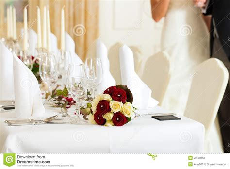 table at a wedding feast stock image image of banquet
