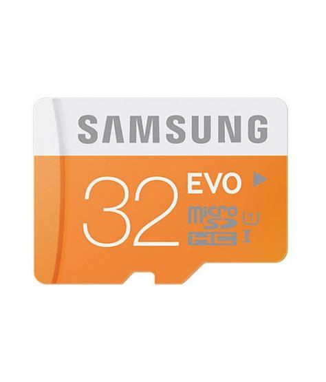 Memory Card Samsung Evo 32gb Samsung 32gb Microsdhc Evo Class 10 Memory Card Buy Samsung 32gb Microsdhc Evo Class 10