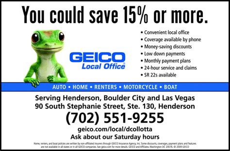 geico boat insurance customer service geico insurance agent henderson nv 89012 yellowbook