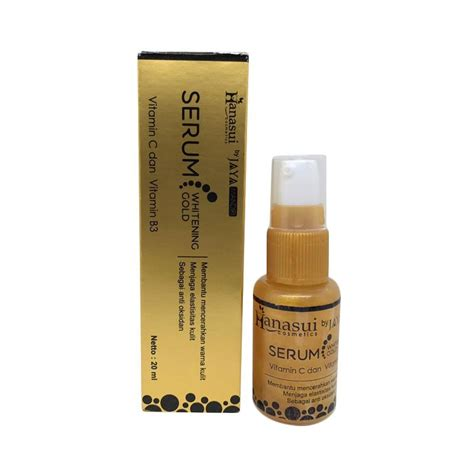 Serum Whitening Gold jual whitening serum gold hanasui pemutih kulit serum
