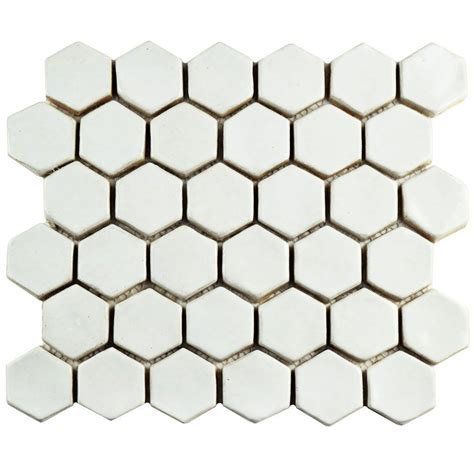 merola tile cobble hexagon white 10 1 2 in x 12 in x 13