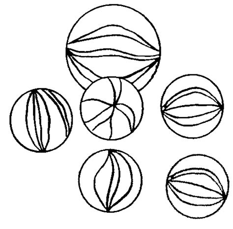 marbles black and white clipart