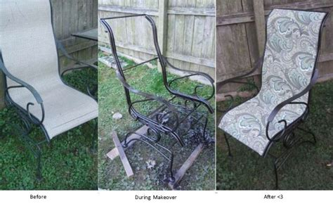 Recover patio chairs   onecraftymutha.com creations