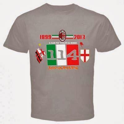 Kaos Tshirt Ac Milan Forza Milan curva sud ultrashop t shirt milan 114 anniversario