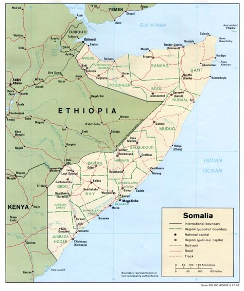 map of somalia map of somalia