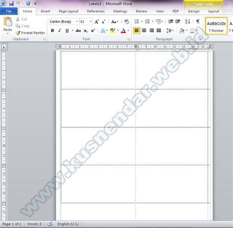 tutorial membuat template label undangan di word 2007 format label undangan 103 ms word 2007 cover letter