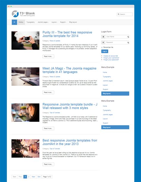 change category blog layout joomla extend com content t3 joomla template framework