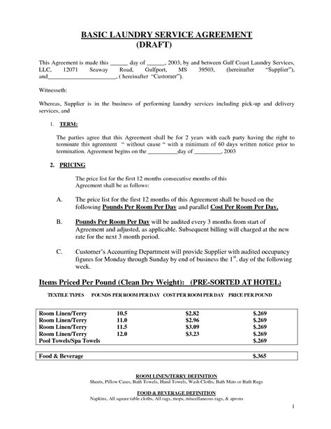 basic service agreement template best photos of basic service contract template