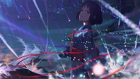 kimi  na wa anime devochka desktophut video oboi zhivye oboi