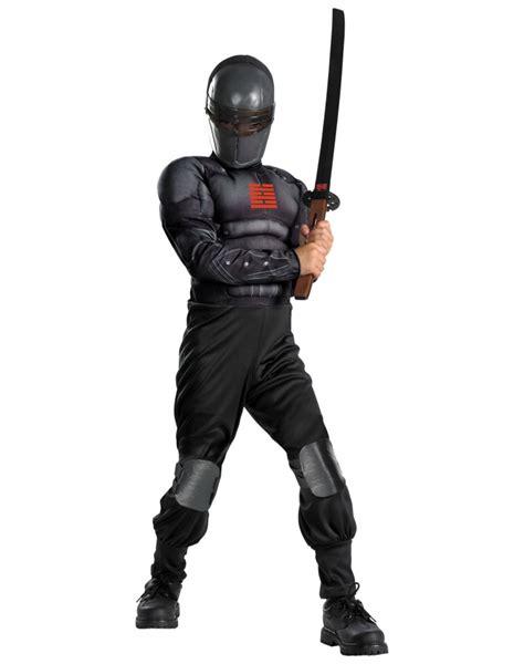 light up ninja costume snake eyes light up deluxe muscle ninja costume
