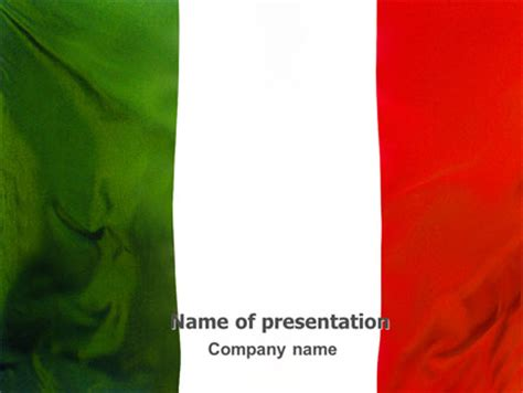 Italian Flag Presentation Template For Powerpoint And Keynote Ppt Star Italian Powerpoint Template