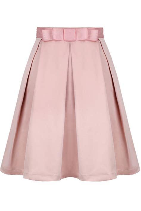 light pink pleated skirt kcloth light pink bow pleated skirt