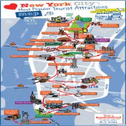Map Of New York Attractions by Pin New York City Tourist Map See Map Details From Www