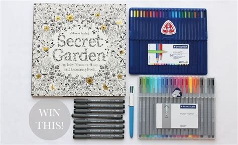colored pencils or markers for coloring books secret garden pens and pencils johanna basford s picks