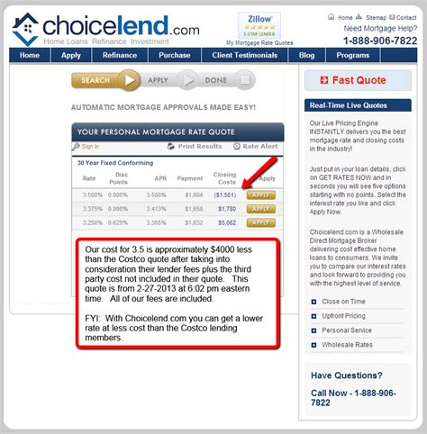 are costco mortgage rates better choicelend mortgage