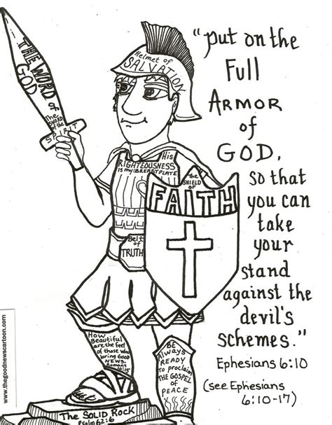 put on the full armor of god printables pictures to pin on