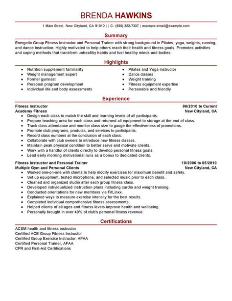 interesting personal trainer skills resume in personal trainer