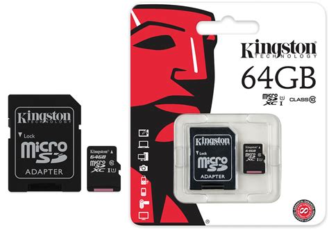 Microsd V 64gb Class 10 computer showcase sd card 64gb kingston micro sdxc class 10 uhs i