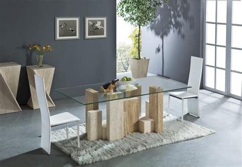 Glass Top Esszimmer Tische Rechteckig by Aliexpress Buy White Travertine And Yellow