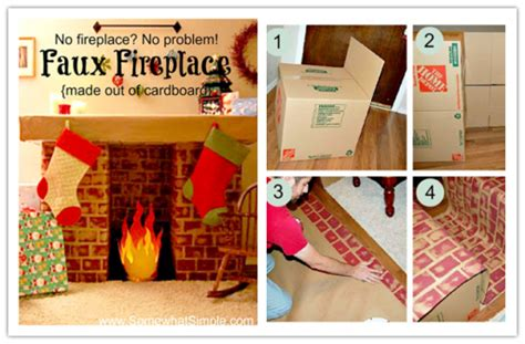 how to make a fireplace out of cardboard no fireplace no problem make a faux fireplace out of
