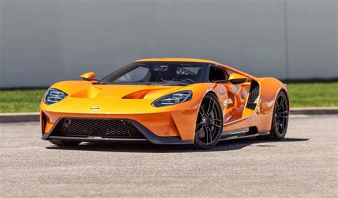 the new ford gt delivery of a one arancio borealis brand new ford gt