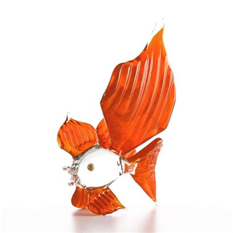 colorful goldfish glass figurines colorful goldfish glass figurine the