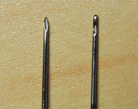 tattoo needle vs injection blunt needle vs sharp needle anesthetic injection in upper