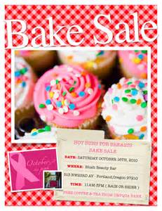 famous bake sale fundraiser flyer