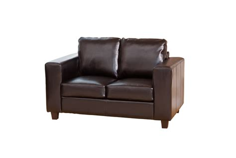 2 seat range leather sofa black brown ivory or
