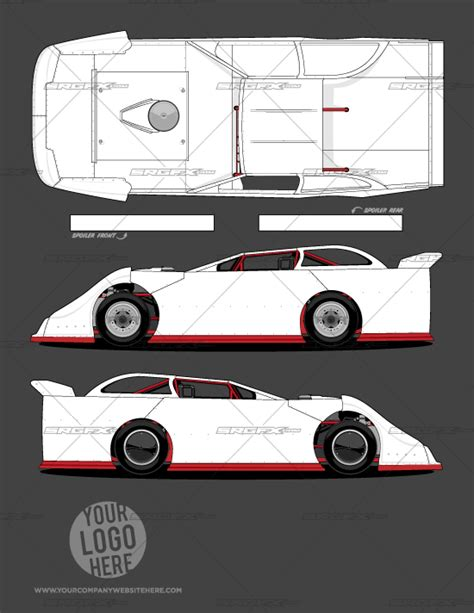 car wrap design templates generation 1 dirt late model template school of racing